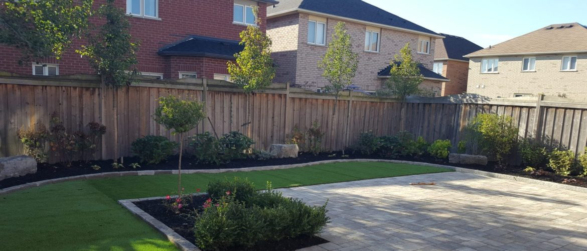 Backyard Suburban Garden & Turf Landscape Design GTA | Turf Design by Terra-Opus