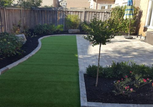 Backyard Synthetic Turf Landscape Design GTA | Turf Design by Terra-Opus