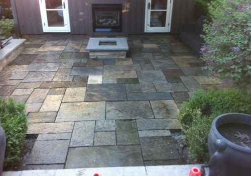 Owen Sound, ON | Square Cut Natural stone Patio | Construction GTA | Landscape Design and Construction by Terra-Opus