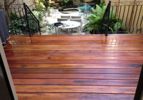 Tigerwood Deck Urban Landscape by Terra-Opus | Suburban Landscape | Landscape Design and Construction | Landscape Design and Construction GTA by Terra-Opus