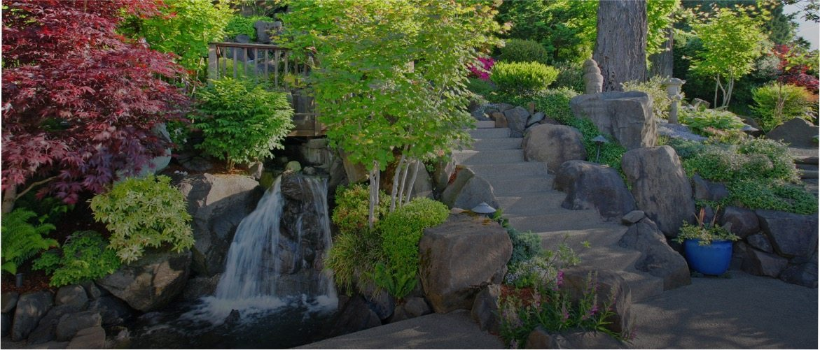 Garden with Water Feature Landscape Design GTA | Terra-Opus Landscape Design
