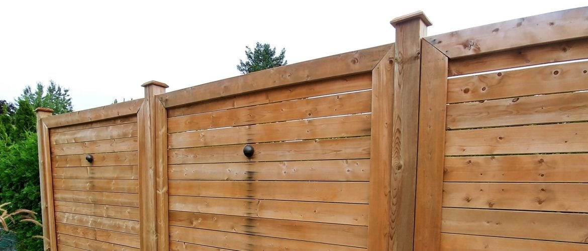 wood privacy wall